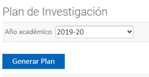 Detalle de la opción Generar Plan en plataforma RAPI